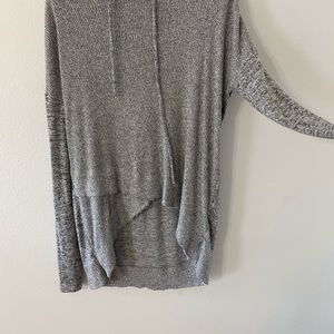 Cozy lightweight top/ sweater with hoodie